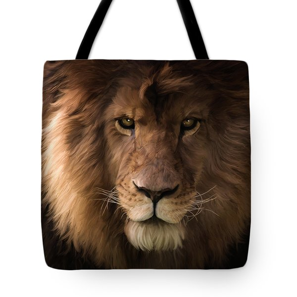 Heart Of A Lion - Wildlife Art Tote Bag