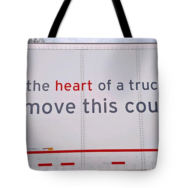 Heart Of A Trucker Tote Bag