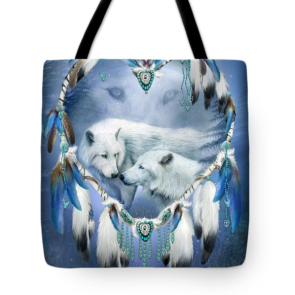 Tote Bag featuring the mixed media Heart Of A Wolf 3 by Carol Cavalaris