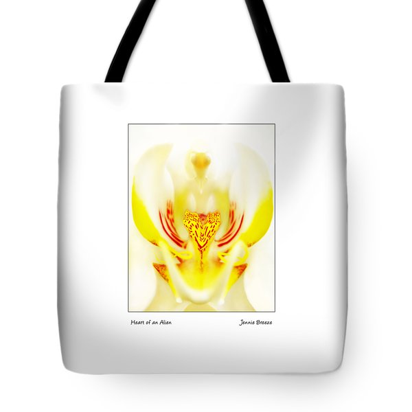 Tote Bag featuring the photograph Heart Of An Alien by Jennie Breeze