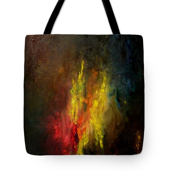 Tote Bag featuring the painting Heart Of Art by Rushan Ruzaick