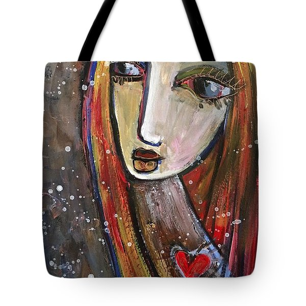 Tote Bag featuring the painting Heart Of Gold by Laurie Maves ART