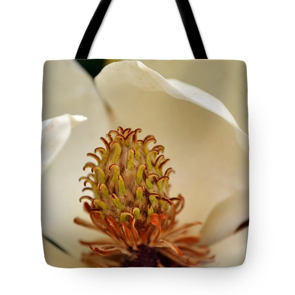Heart Of Magnolia Tote Bag by Larry Bishop