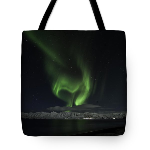 Heart Of Northern Lights Tote Bag