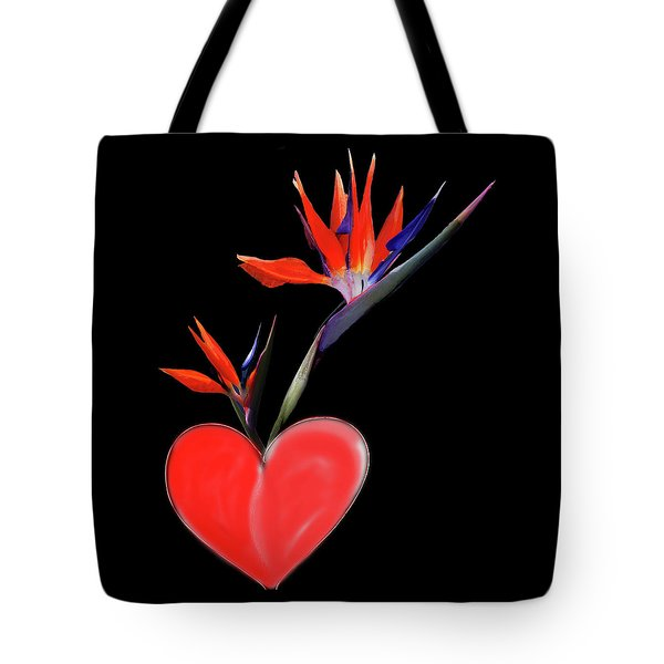 Heart  Of Paradise Tote Bag