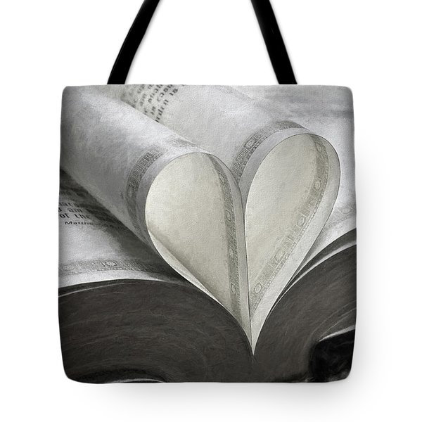 Heart Of The Book  Tote Bag