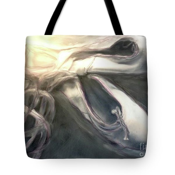 Tote Bag featuring the painting Heart Of The Dance by FeatherStone Studio Julie A Miller