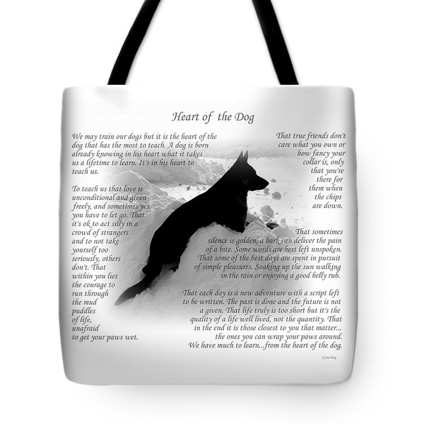 Heart Of The Dog Version Two Tote Bag