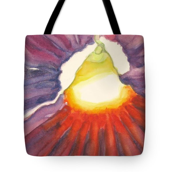 Tote Bag featuring the painting Heart Of The Flower by Inese Poga