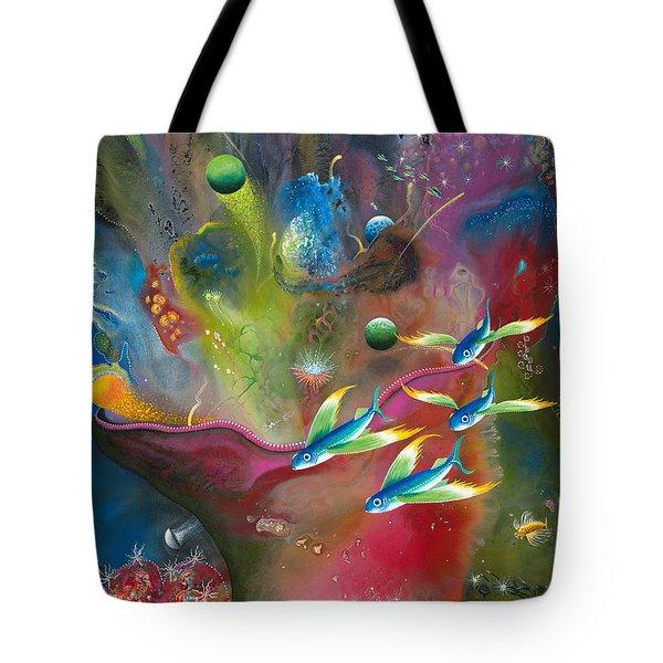 Heart Of The Reef Tote Bag by Lee Pantas