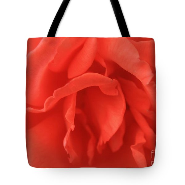 Heart Of The Rose - Red Tote Bag