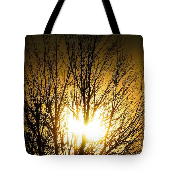 Heart Of The Sun Tote Bag