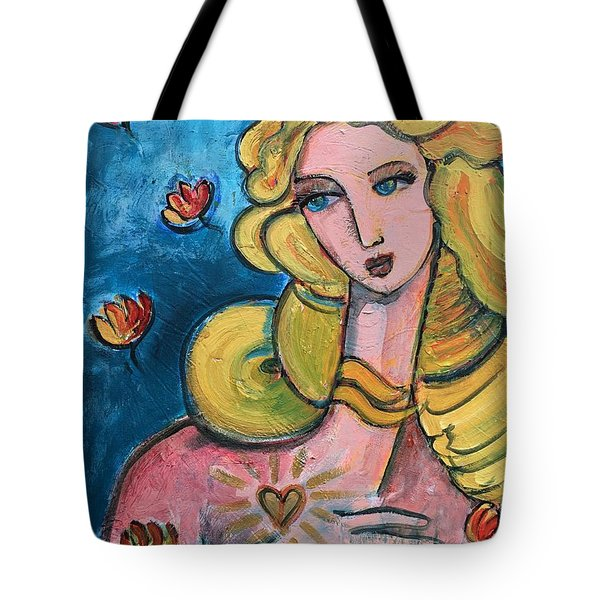 Tote Bag featuring the painting Heart Of Venus by Laurie Maves ART