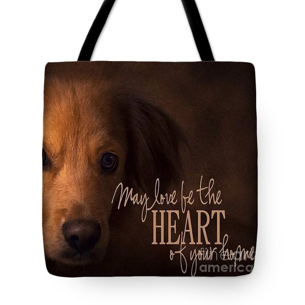 Tote Bag featuring the digital art Heart Of Your Home  by Kathy Tarochione