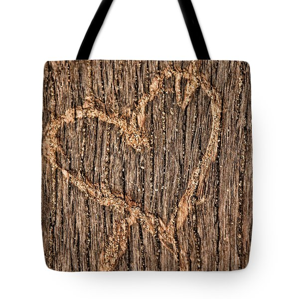 Heart On A Bench Tote Bag