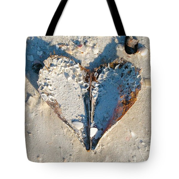 Heart On The Beach Tote Bag