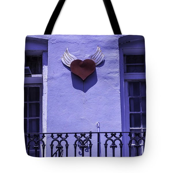 Heart On Wall Tote Bag by Garry Gay