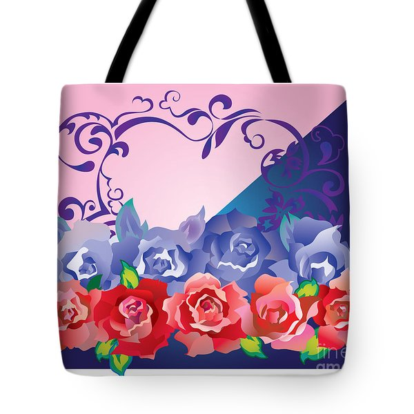 Tote Bag featuring the digital art Heart Post Card by Ariadna De Raadt