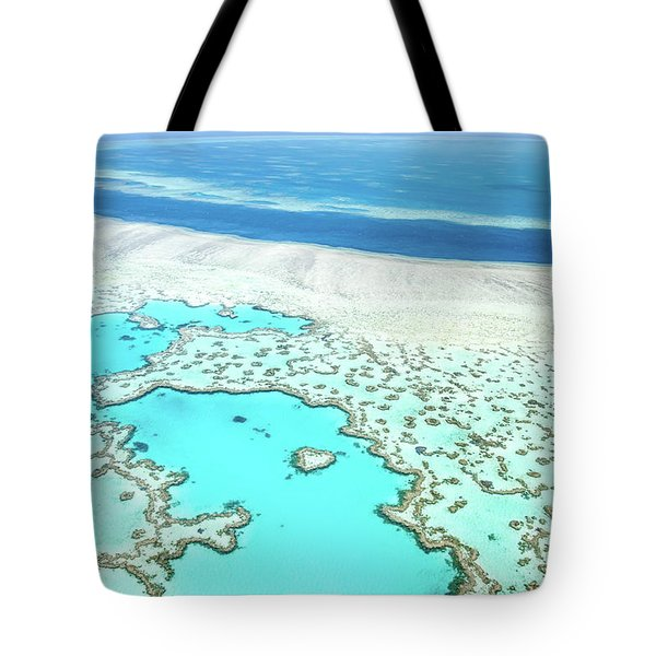 Tote Bag featuring the photograph Heart Reef by Az Jackson