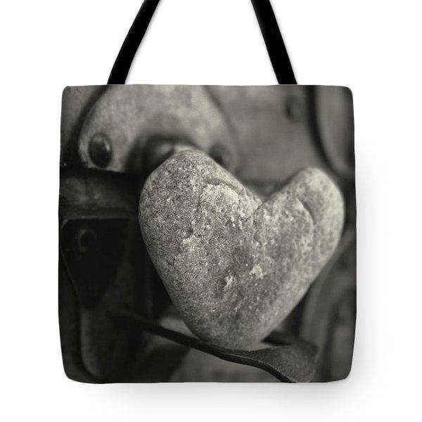 Heart Rock Tote Bag by Toni Hopper