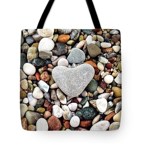 Heart-shaped Stone Tote Bag