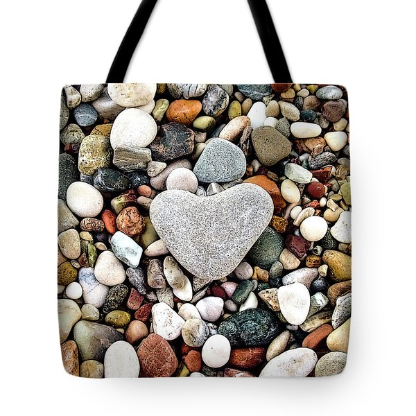 Heart-shaped Stone Tote Bag