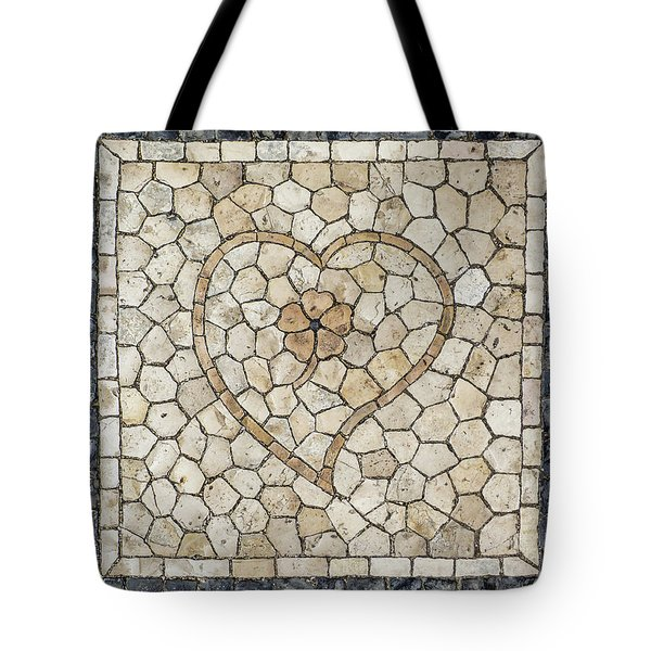 Heart Shaped Traditional Portuguese Pavement Tote Bag