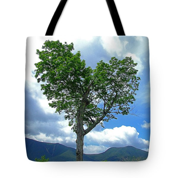 Heart Shaped Tree Tote Bag