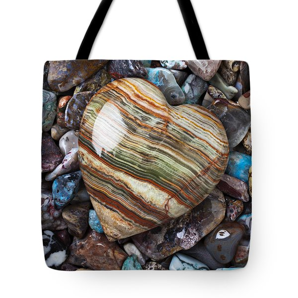 Heart Stone Tote Bag by Garry Gay