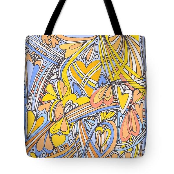 Heart Strings Tote Bag by Linda Kay Thomas