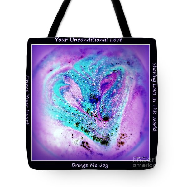 Heart Swirl Sedona Tote Bag