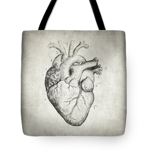 Tote Bag featuring the drawing Heart by Taylan Apukovska