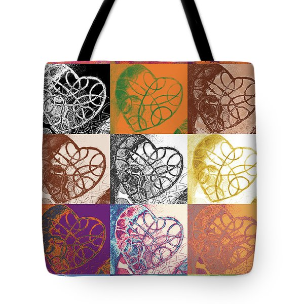 Heart To Heart Rendition 5x3 Equals 15 Tote Bag