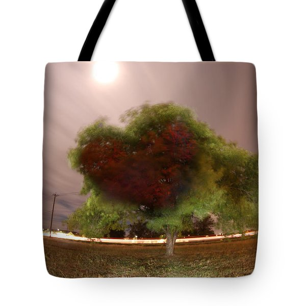 Heart Tree Scene Tote Bag