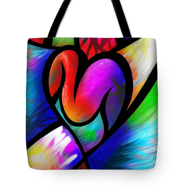 Heart Vectors Tote Bag by AC Williams
