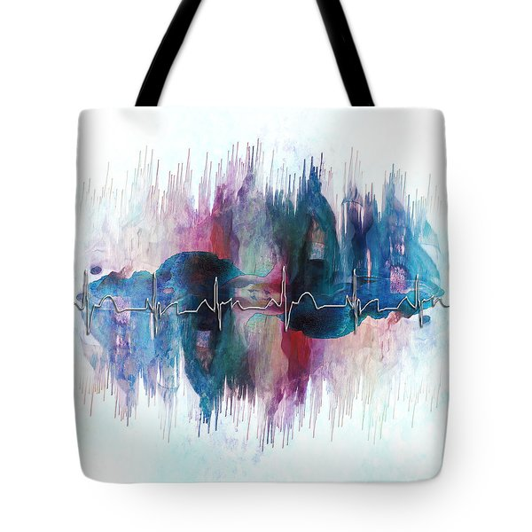 Heartbeat Drama Tote Bag