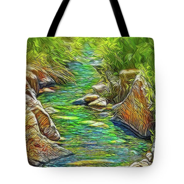 Heartbeat Of A Stream Tote Bag