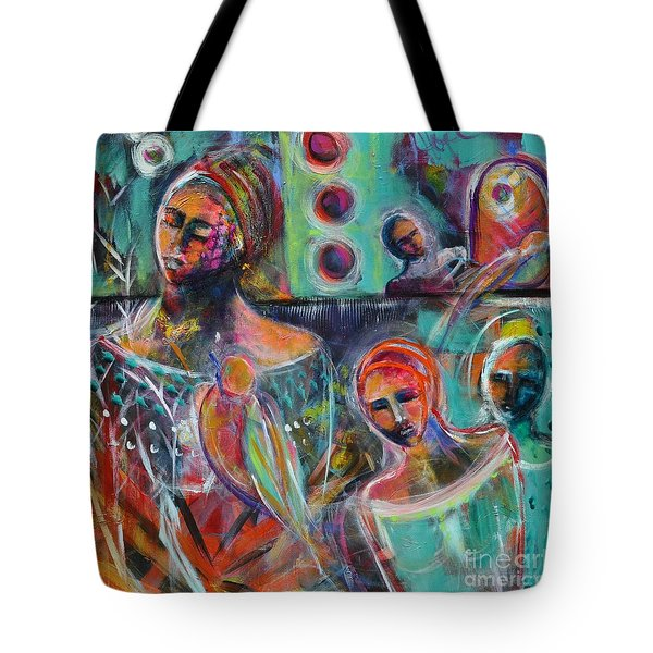 Hearth Of Connection Tote Bag by Gail Butters Cohen