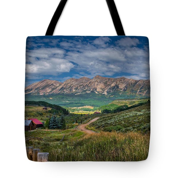 Heartland Of The Colorado Rockies Tote Bag