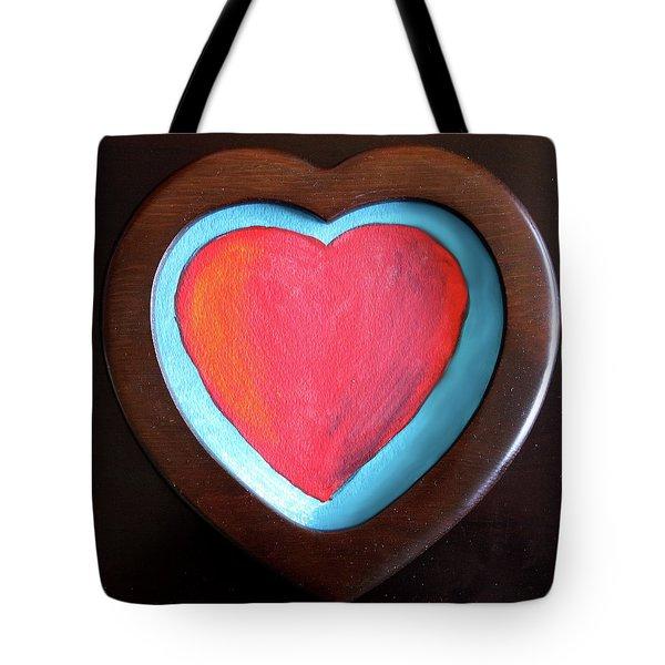 Hearts Afire Tote Bag