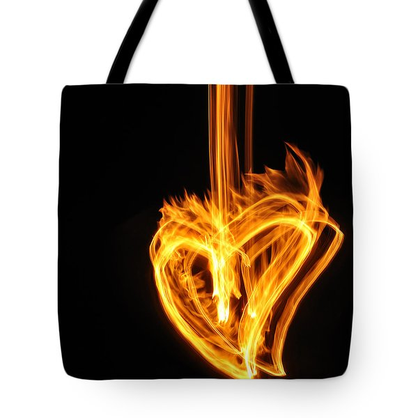 Hearts Aflame -falling In Love Tote Bag