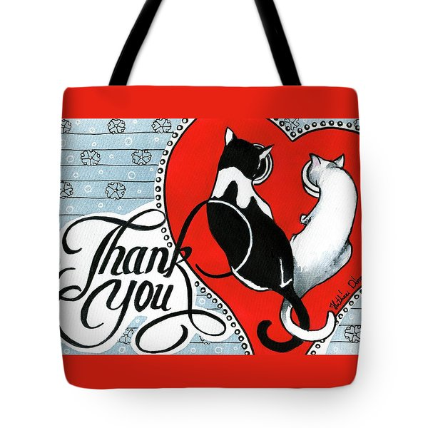 Tote Bag featuring the painting Hearts And Tails by Dora Hathazi Mendes