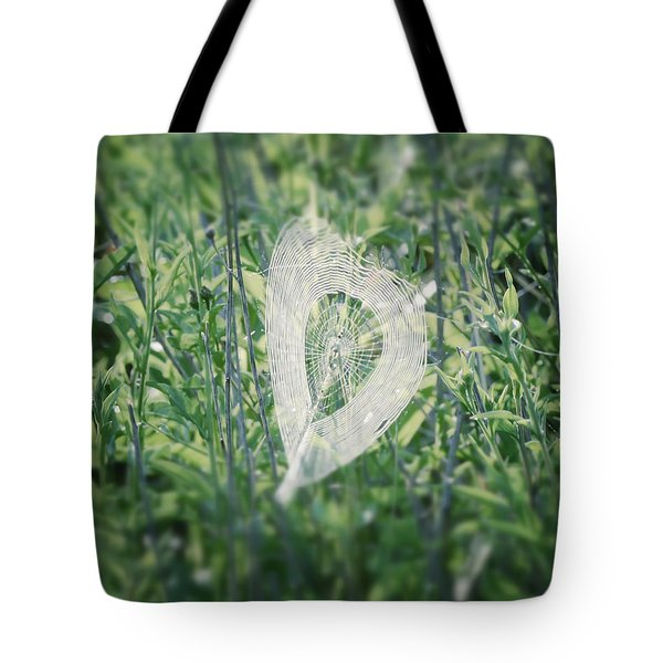 Hearts In Nature - Heart Shaped Web Tote Bag