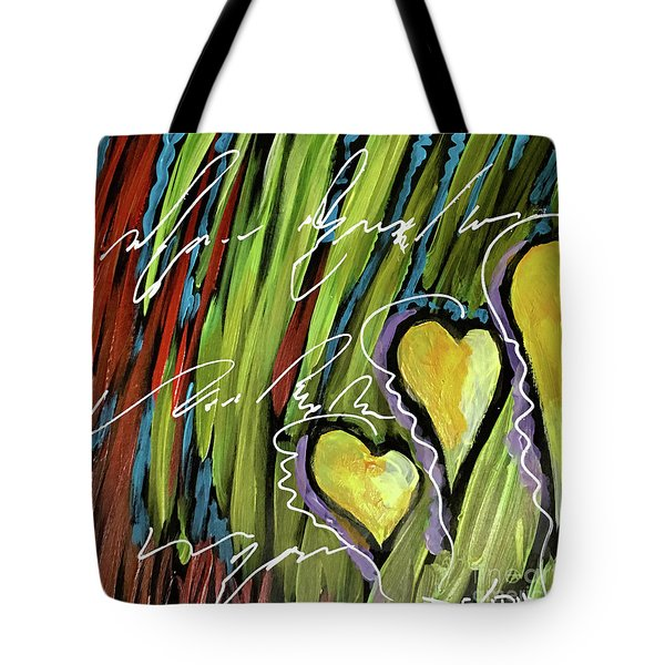 Hearts In The Grass Tote Bag