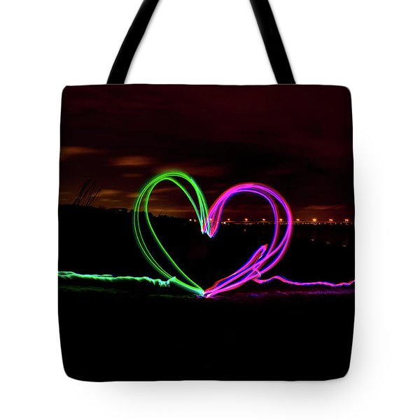 Hearts In The Night Tote Bag