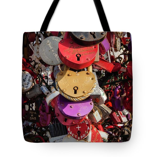 Hearts Locked In Love Tote Bag