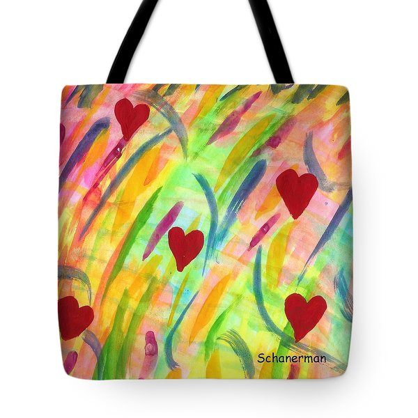 heARTs of Spring Tote Bag