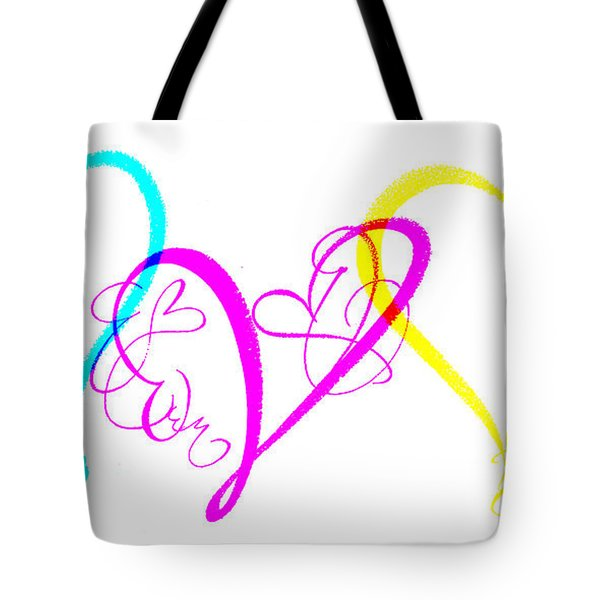 Hearts On White Tote Bag by Swank Photography