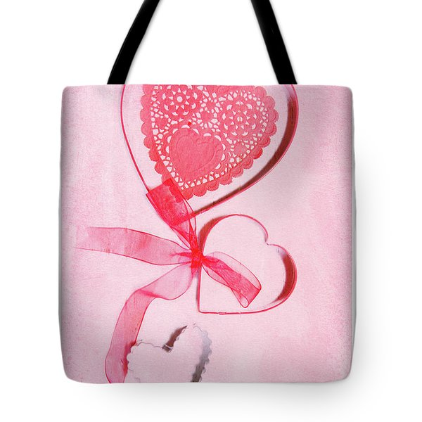 Tote Bag featuring the photograph Hearts by Rebecca Cozart