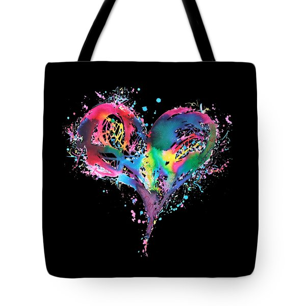 Hearts 6 T-shirt Tote Bag